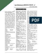 Sbi Clerk Mock paper