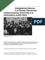 Sinpermiso-por Que Los Trabajadores Blancos Abandonaron Al Partido Democrata Estadounidense. Entrevista a La Historiadora Judith Stein-2016!07!17