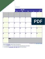 July 2016 Calendar.docx