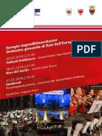 Programm Euregio Jugendblasorchester 2016 Orchestra Giovanile Di Fiati