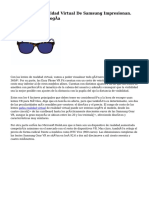 Las Lentes De Realidad Virtual De Samsung Impresionan. Noticias De Tecnología