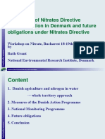Experience of Nitrates Directive Implementation in Denmark and Future Obligations Under Nitrates Directi.ppt