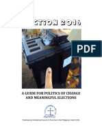 A Guide for Politics of Change and Meaningful Elections
