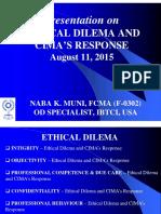 Ethical Dilema & Cima_s Response_11082015