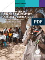 Oxfam's Work in Fragile and Conflict-Affected Contexts