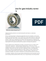 Bearing Basics for Gas-Industry Screw Compressors