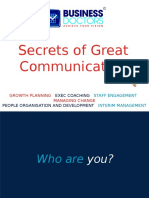 Secrets of Great Communication