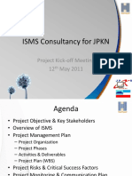 ISMS Consultancy for JPKN - Project Kickoff Meeting