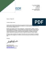 E. Bryan - UNISDR Letter