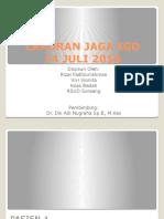 Laporan Jaga Igd 14 Juli 2016