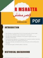Qasr Mshatta قصرمشتٰی