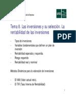 Tema 8. Las Inversiones y Su..