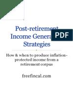 Post Retirement Income Strategies