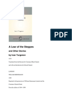 Ivan Turgenev - A Lear of the Steppes and Other Stories