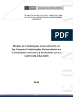 SINEACE - Modelo de Calidad para la Acreditacion de las Carreras Profesionales Universitarias en la modalidad a distancia y estandares para la Carrera de Educacion.pdf