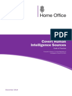 Covert Human Intelligence Sources 2014 - UK