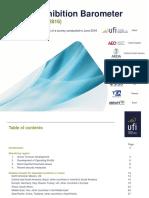 UFI  Global Exhibition Barometer report