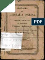 Caligrafía Inglesa