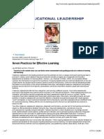sevenpracticesforeffectivelearning