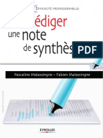 Rédiger Une Note de Synthèse - Eyrolles