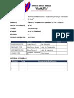 PLAN de ESTRATEGIA de TRABAJO-Servicio de Fabricación e Instalación de Tanque Calentador de Agua