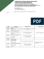 Susunan Acara UNAS & Forum PPDS