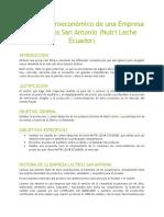 Análisis Microeconómico de Un Empresa de Lácteos San Antonio