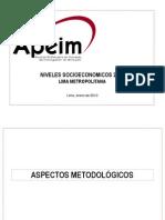 Niveles Socioeconomicos de Líma 2010