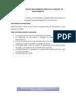 Actividades y Fases de Mantenimiento Previas Al Contrato de Teoriamantenimiento