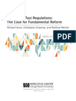 Rethinking Taxi Regulations