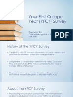 your first college year  yfcy  survey powerpoint