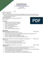 Document Management Analyst in Washington DC Resume Joseph Biederman