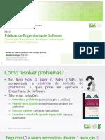 Aula 02 Práticas de Engenharia de Software