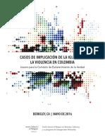 Casos de Implicacion de La Iglesia en Crimenes Del Paramilitarismo