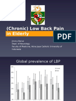 Low Back Pain in Elderly Ageing