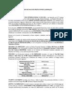 Acuerdo de Pago de Prestaciones Laborales Andres v. Marte