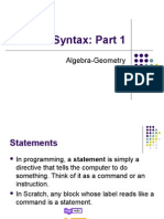 Scratch Syntax 1