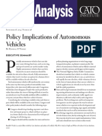 Policy Implications of Autonomous Vehicles