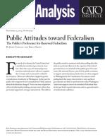 Public Attitudes toward Federalism