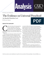The Evidence on Universal Preschool