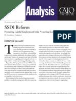 SSDI Reform