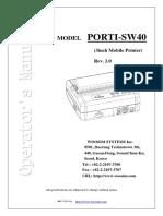 Operator Manual Porti_SW40
