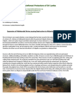 Expansion of Pallekandal shrine destroying Wilpattu National Park