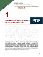 Lectura Nº 1 de La Evaluación a La Valoración de Las Competencias