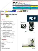 Air Classifier - Nano Creating Powder & Particles Processing Systems