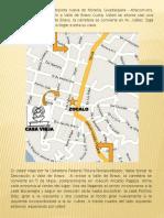 Casa Vieja Mapa de llegada