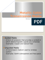 1 Metallic Cable Transmission Media By Engr. Richard Figueroa