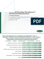 Sources of Information That Influence It Services Purchasing Decisions