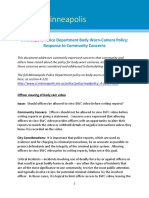 Response to Community Concerns About MPD Body Camera Policy