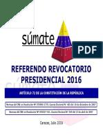 Presentación Súmate Referendo Revocatorio Presidencial 2016